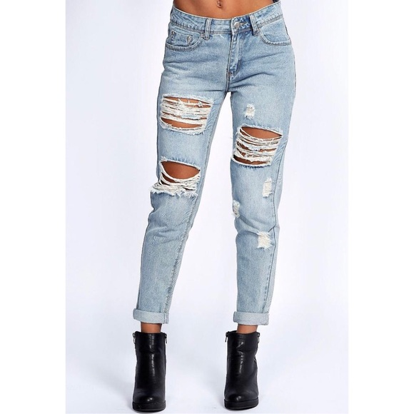 d9058a84382c4 Boohoo Jeans   New Ripped Gemma 78th Size 10   Poshmark